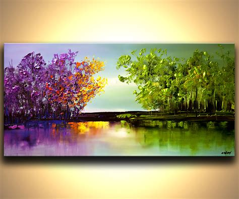 modern abstract landscape painting modern textured