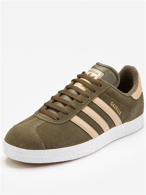 Adidas Ii adidas adidas originals gazelle ii suede mens trainers in khaki for lyst