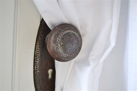 Door Knob Curtain Tie Backs by Whisperwood Cottage Authentic Style Series June 2011