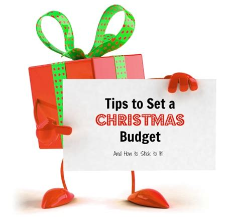tips to setting a christmas budget and sticking to it