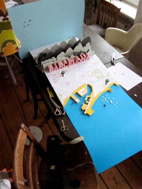 Make A 3d Paper City - barcelona 3d papercraft city map by h 228 rlin