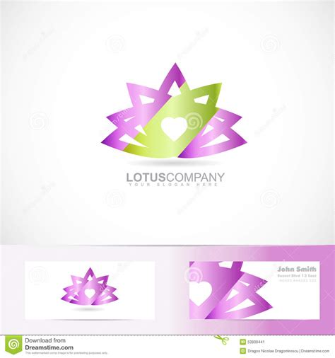 lotus flower business cards template lotus flower 3d logo stock vector image 53939441