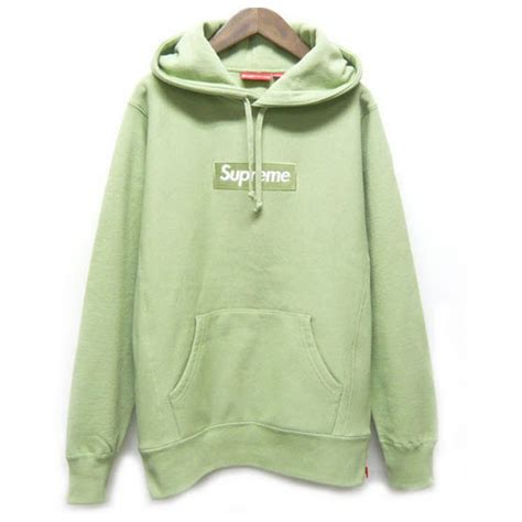 Hoodie Jaket Sweater Greenlight supreme box logo hoodie light green