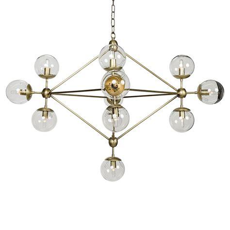 Brass Chandelier Modern Modern Antique Brass Metal Constellation Orb Chandelier Kathy Kuo Home