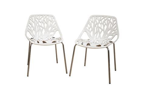 white plastic dining chair baxton studio modern dining chairs