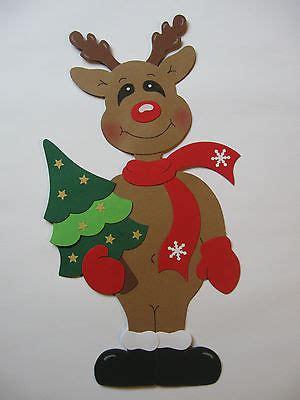 Weihnachten Basteln Fensterbilder Rentier by Conchila Fensterbild Elch Mit Sack Rentier