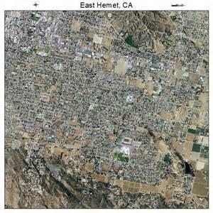 hemet california map aerial photography map of east hemet ca california