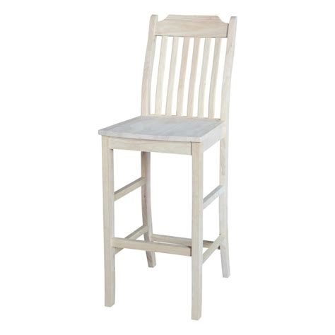 unfinished maple bar stools international concepts 30 in unfinished wood bar stool