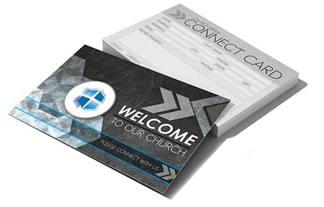 connection card templates church connect card gray digital316 net