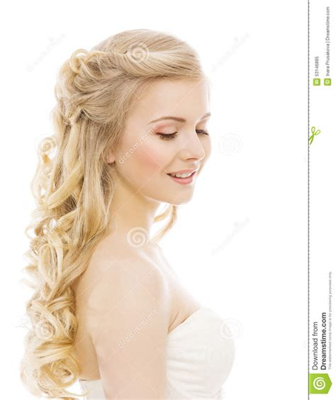 girl hairstyles blonde woman beauty makeup long hair young girl with blond curly