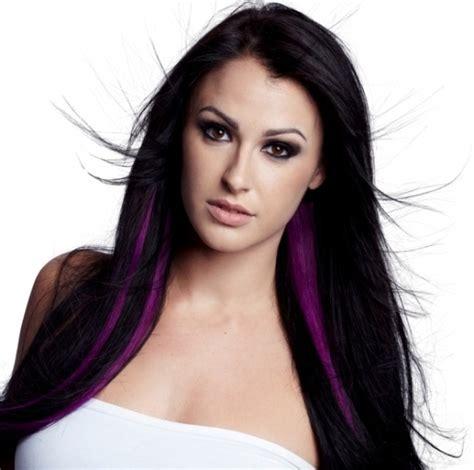 pictures of streaked black hairstyles purple streaks in black hair hairstyle for women man