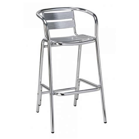 aluminum outdoor stools indoor outdoor aluminum bar stool w arms
