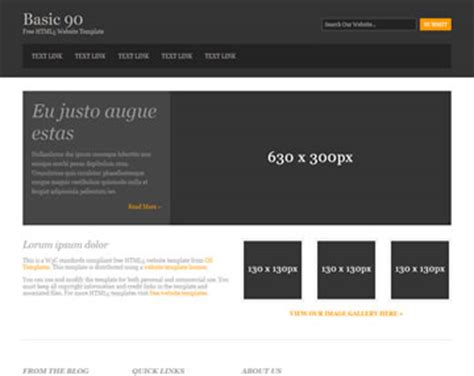 Basic 90 Free Html5 Template Html5 Templates Os Templates Html Simple Website Templates Free