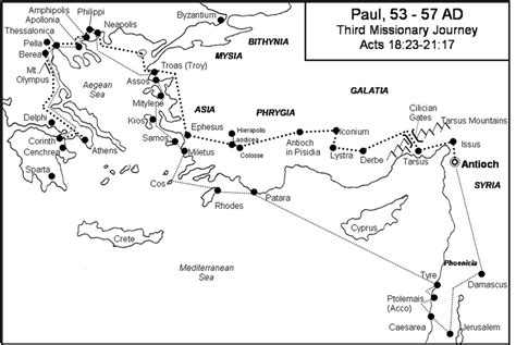 paul s second journey coloring page free coloring pages of paul journey