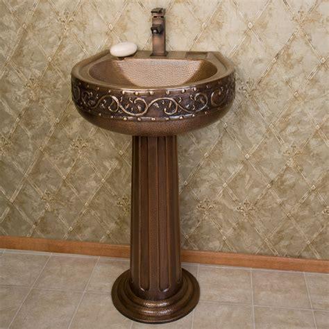 Pedestal For Sink by Signature Hardware Vine Hammered Copper Pedestal Sink Ebay