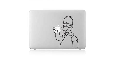 Macbook Aufkleber Apfel by Homer Frisst Apfel Laptop Macbook Sticker Aufkleber
