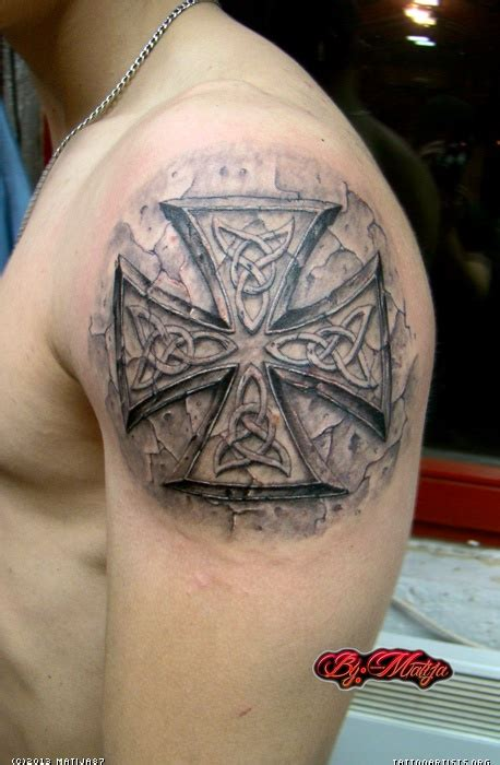 iron cross tattoos iron cross celtic by matija artists org