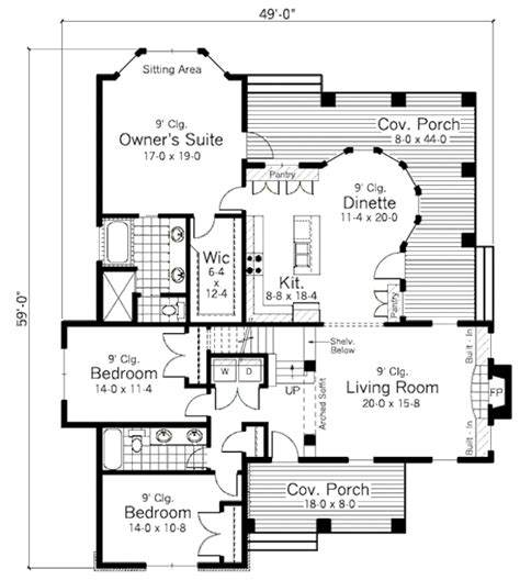 350 sq ft floor plan country style house plan 3 beds 2 baths 1838 sq ft plan 51 350