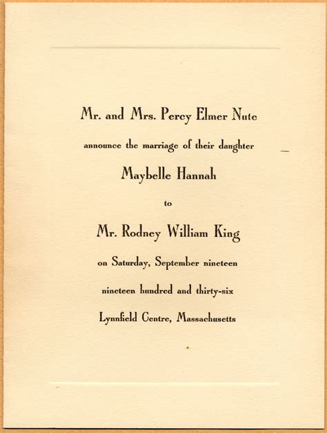 Wedding Invitation Notice by Caroline Wedding Invitation
