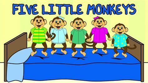 five little monkeys jumping 0547510756 5 little monkeys jumping on the bed nursery rhyme kids songs five little monkeys by 123abctv