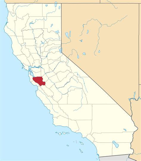 santa clara map file map of california highlighting santa clara county svg