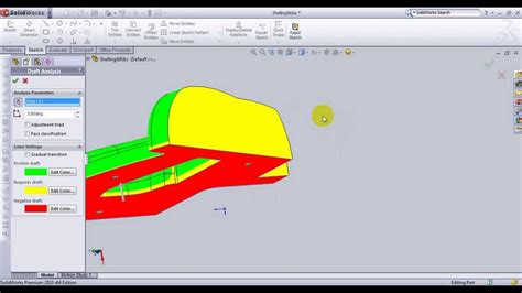 solidworks tutorial mold solidworks tutorial make draft analysis for product then
