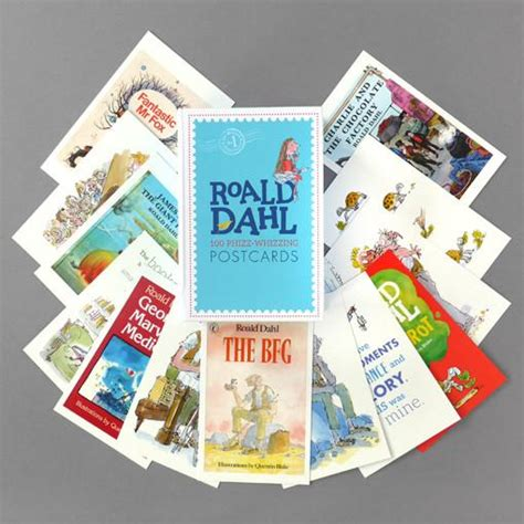roald dahl 100 phizz whizzing roald dahl postcard box 100 phizz whizzing postcards the literary gift company