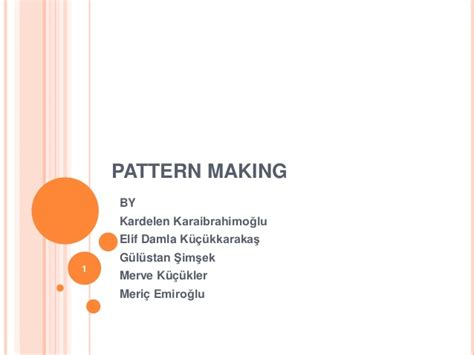 patternmaking for fashion design slideshare pattern making deparment