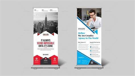 design x banner online how to design corporate roll up banner or x banner in