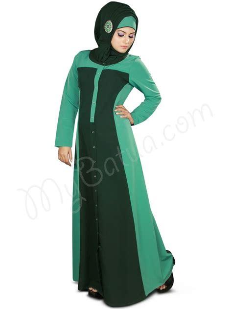 Etnik Maxy By Fashion mybatua ay 369 front open abaya dual color jilbab