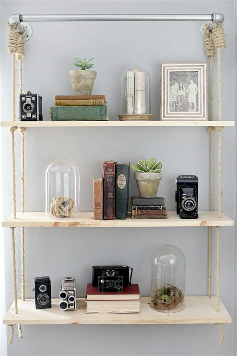 hanging bookshelves obsessed with hanging shelves simple diy ideas you ll love