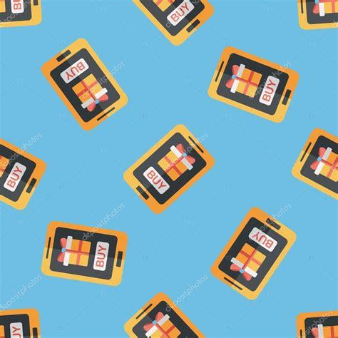 cell phone pattern hacker cell phone online shopping flat icon eps10 seamless
