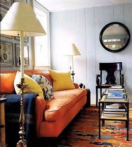 Orange Sofa Living Room All Things Bright And Beautiful When I Say Orange Sofa You Say