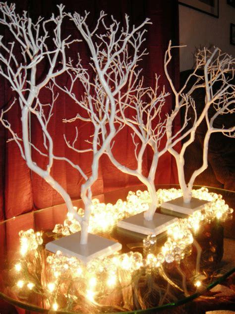 manzanita wedding centerpiece trees we airbrush your trees
