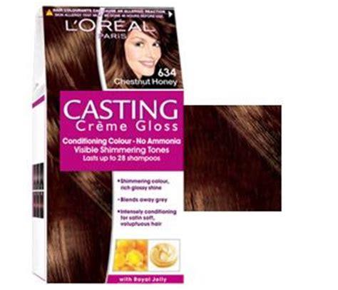 634 chestnut honey casting creme gloss ammonia free hair colour casting cr 232 me gloss 634 chestnut honey possible hair