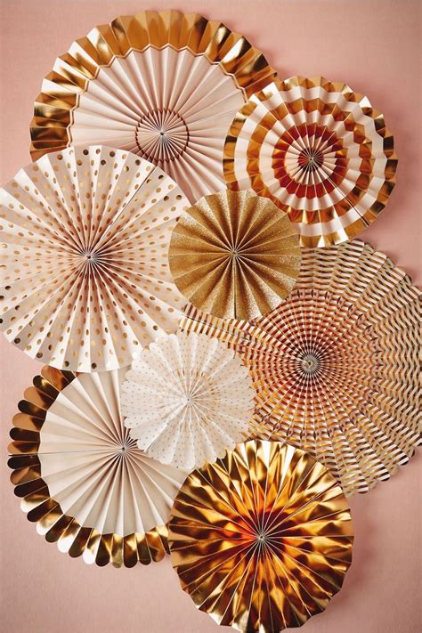 How To Make Crinkle Paper Flowers - golden hour crinkle fans 8 from bhldn pretties