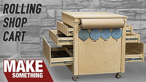 rolling woodworking shop cart infeed