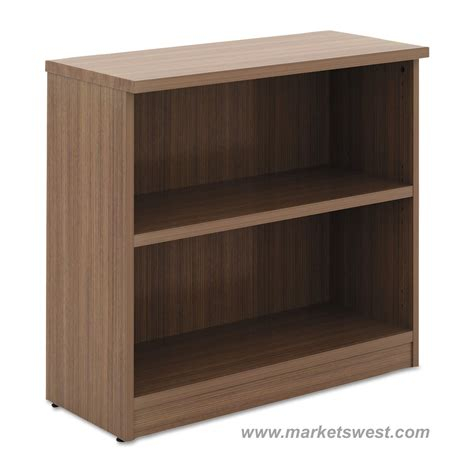 alera 2 shelf laminate bookcase