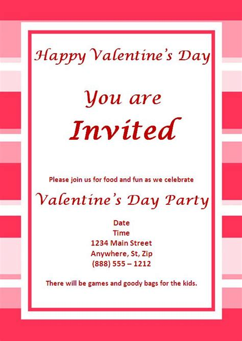 valentines invitation valentines invitations ideas