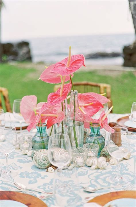 Coral and aqua tropical destination wedding   The Merry Bride
