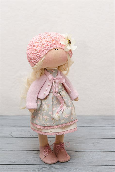Handmade Fabric Dolls - madelyn doll handmade doll textile doll fabric doll rag