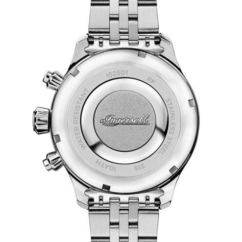 Silber Uhr Polieren by Ingersoll I02501 Herrenuhr The Delta Chronograph Quarzwerk