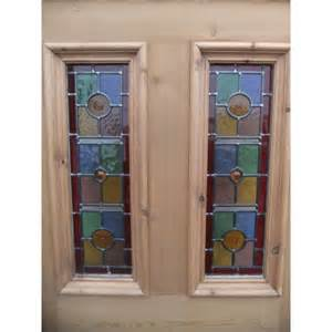 Glass Panel Exterior Doors Doors Sd071 Exterior 5 Panel Door With Vibrant Stained Glass Panels