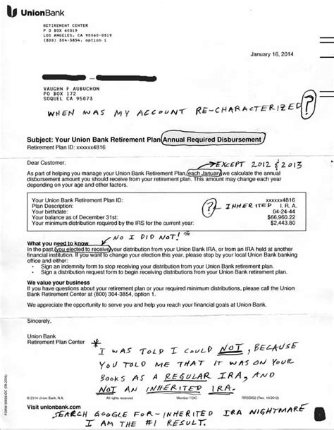 Bank Verification Letter Fargo Fargo Inherited Ira Nightmare Vaughn S Summaries