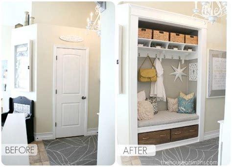 hall closet conversion   entry bench  storage