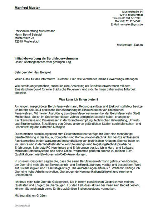 Anschreiben Bewerbung Rathaus Bewerbung Berufsfeuerwehrmann Berufseinsteiger