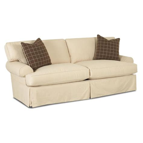 klaussner slipcover sofa klaussner lahoya sofa with slipcover and blend down