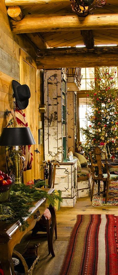 cozy log cabin porch home inspirtations pinterest 10 country christmas decorating ideas