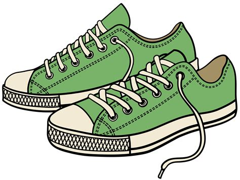 shoe clipart shoe clipart green pencil and in color shoe clipart green