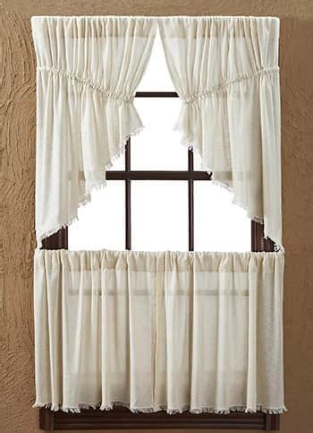 prairie style curtains natural tobacco cloth window curtain prairie swag